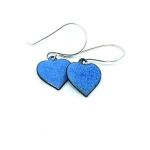 Copper & Enamel Heart Earrings