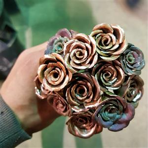 Bouquet of Copper Roses | 7th anniversary | MyGiftGenie