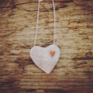 Silver Heart Necklace | Anniversary Gift | MyGiftGenie