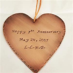 Personalised Copper Plaque | 7th Anniversary | MyGiftGenie