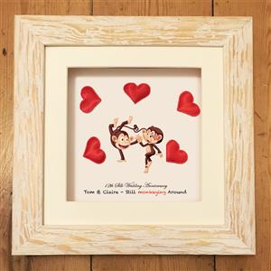 Personalised Monkey Silk Print | 12th anniversary | MyGiftGenie