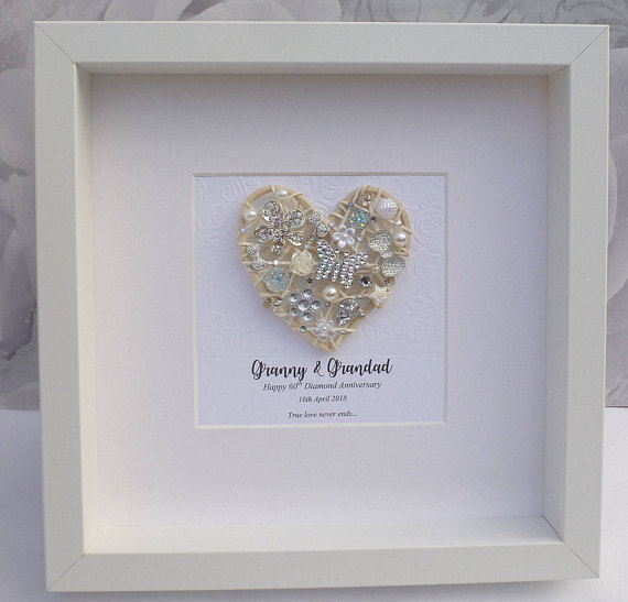 Fifteenth Wedding Anniversary Gifts: 15th Crystal Wedding Anniversary Framed Gift