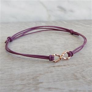 Rose Gold Infinity Bracelet | 3rd leather Anniversary | MyGiftGenie