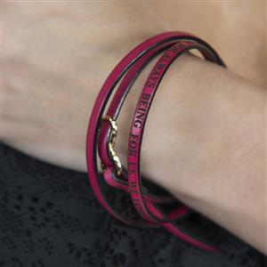 Infinity Leather Wrap Bracelet | 3rd Leather Anniversary | MyGiftGenie