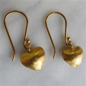 Gold Heart Earrings | Anniversary Gift | MyGiftGenie