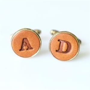 Personalised Leather Cufflinks | Anniversary Gift for Him | MyGiftGenie