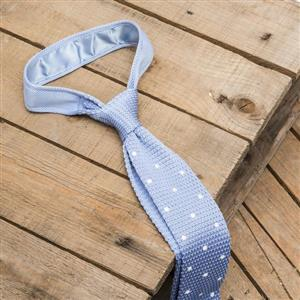 Light Blue and White Spotted Tie | Gifts For Him | MyGiftGenie