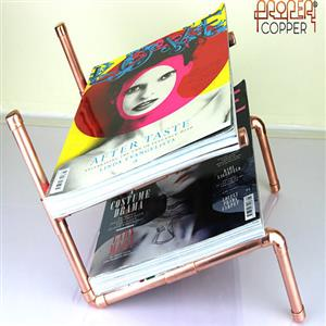Double stylish magazine rack | 7th copper anniversary | MyGiftGenie