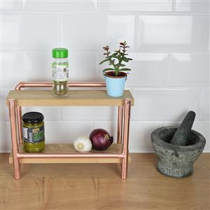 Copper and Oak Spice Rack | 7th copper anniversary | MyGiftGenie