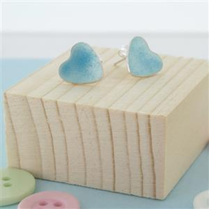 Enamelled Heart Stud Earrings | Gifts for Her | MyGiftGenie