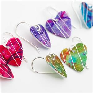 Aluminium Heart Earrings | Gifts for Her | MyGiftGenie