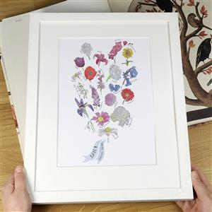 Personalised Bunch of Flowers Print | MyGiftGenie