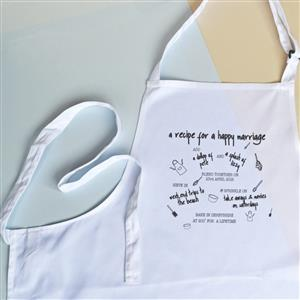 Personalised Recipe for a Happy Marriage Apron | Anniversary Gifts | MyGiftGenie