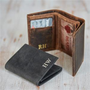 Personalised Buffalo Leather Handmade Billfold Wallet | Personalised Wallet | MyGiftGenie