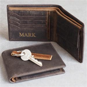 Personalised Buffalo Leather Handmade Wallet | Personalised Wallet | MyGiftGenie