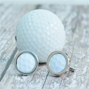Genuine Golf Ball Cufflinks | Golf Gifts | MyGiftGenie