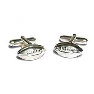 Solid Silver Rugby Ball Cufflinks | Rugby Gifts | MyGiftGenie