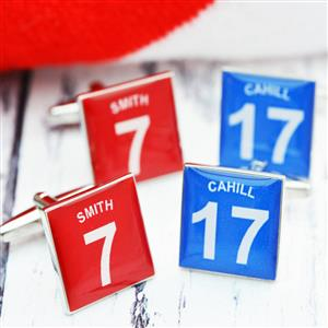 Personalised Football Shirt Cufflinks | Tennis Gifts | MyGiftGenie