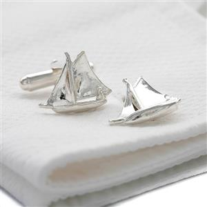 Solid Silver Sailing Boat Cufflinks | Sailing Gifts | MyGiftGenie
