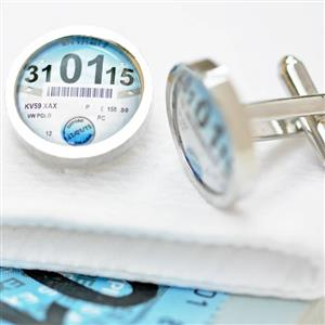 Persoanlised Tax Disc Cufflinks| Motor Racing Gifts | MyGiftGenie