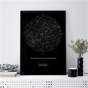 Personalised Night Sky Star Map | Personalised Anniversary Gift | MyGiftGenie