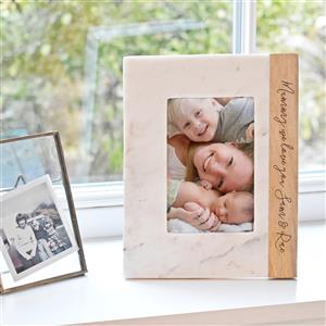 Mango & Marble Personalised Photo Frame | Anniversary gift | MyGiftGenie