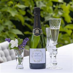 1st Anniversary Personalised Bottle of Champagne | 1st anniversary gift | MyGiftGenie