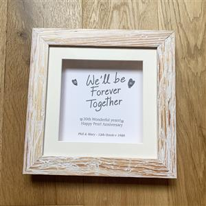 Personalised Printed Frame with Pearls  | 30th anniversary | MyGiftGenie