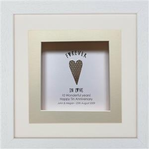 Tin Personalised Frame  | 10th anniversary | MyGiftGenie