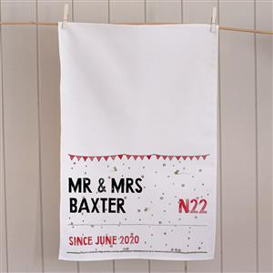 Personalised Street Sign Tea Towel | Anniversary Gift | MyGiftGenie