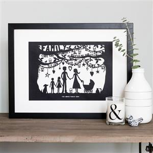 Happy Families Papercut | Anniversary Gifts | MyGiftGenie