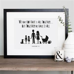 My Family & Animals Print | Anniversary Gifts | MyGiftGenie