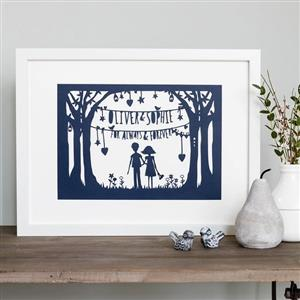 First (Paper) Anniversary Papercut | First Anniversary Gifts | MyGiftGenie