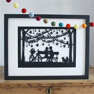 The Lovers Papercut | Anniversary Gifts | MyGiftGenie