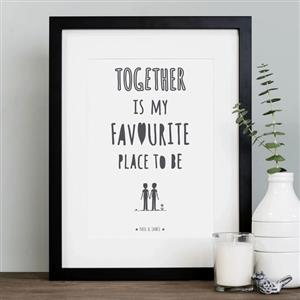 Favourite Place Print | Anniversary Gifts | MyGiftGenie