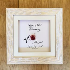 4th Anniversary Framed Print | 4th anniversary | MyGiftGenie