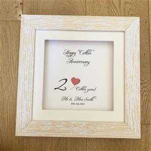 Second Anniversary Framed Gift | 2nd anniversary | MyGiftGenie