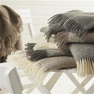 Pure New Wool Herringbone Throw | 7th Anniversary Gift | MyGiftGenie