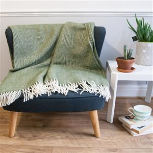 Herringbone Pure New Wool Throw| 7th Anniversary Gift