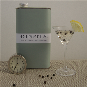Personalised Tin of Gin | 10th Tin Wedding Anniversary | MyGiftGenie