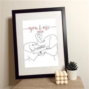 You & Me Elephant Print | Personalised Prints | MyGiftGenie