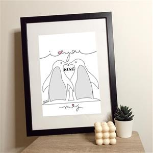 Personalised Penguin Print | Personalised Prints | MyGiftGenie