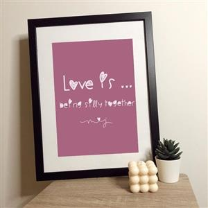 Love Is Being Silly Together Print | Anniversary Prints | MyGiftGenie