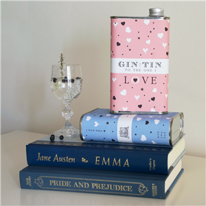 Love Heart Gin in a Tin | 10th Tin Wedding Anniversary | MyGiftGenie